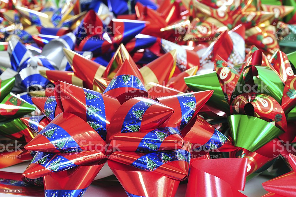 Colorful ribbons. stock photo