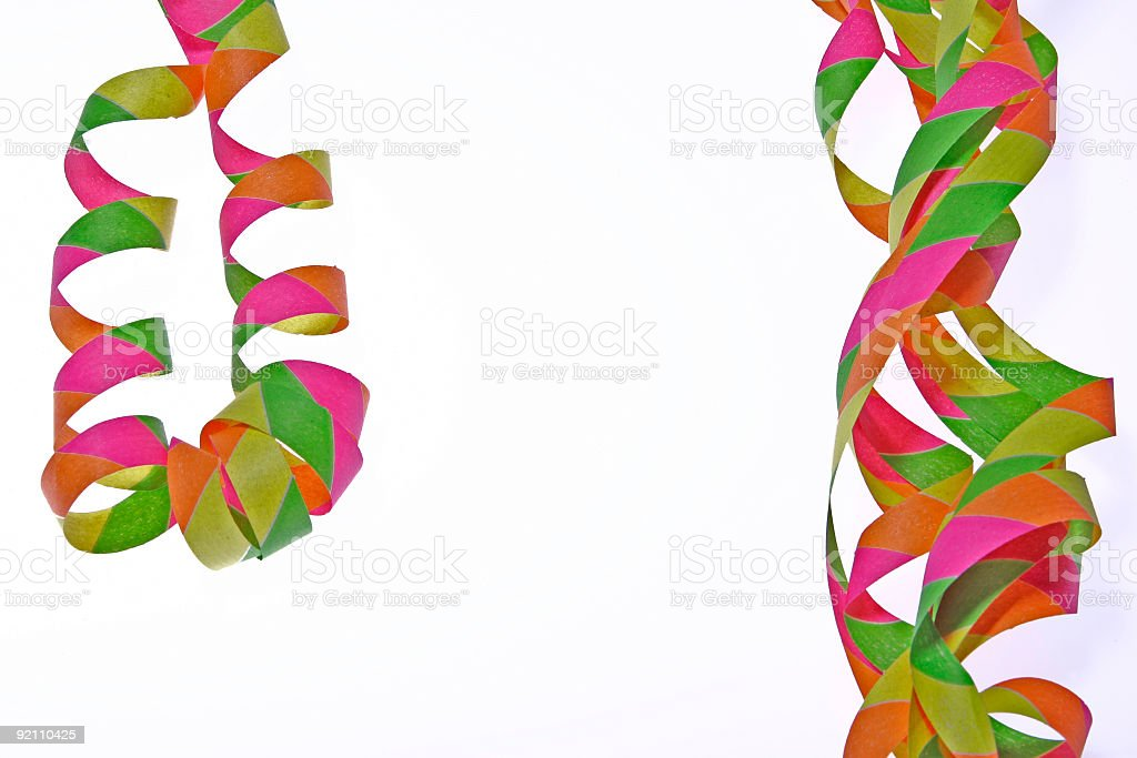 Colorful ribbons - Template for greeting cards royalty-free stock photo