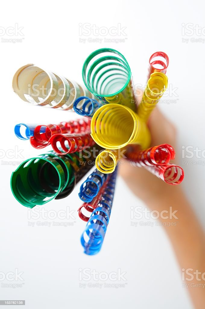 colorful ring binding spine royalty-free stock photo