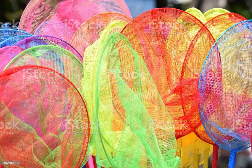 Colorful ring nets stock photo