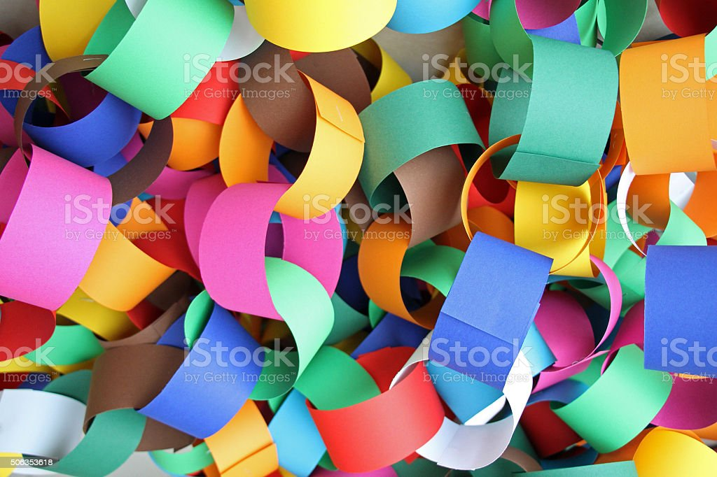 Colorful Rings Connected stock photo