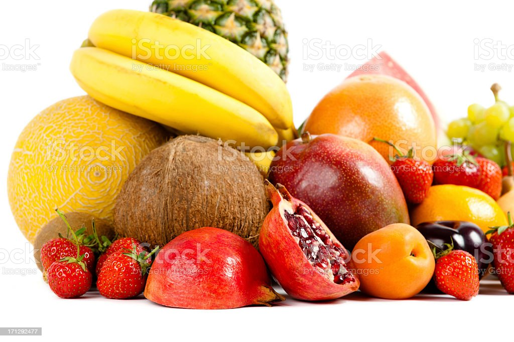 colorful ripe fruit composition royalty-free stock photo