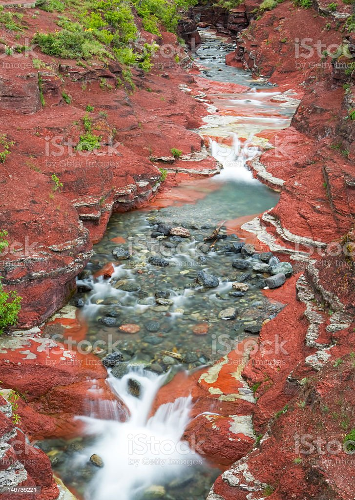 Colorful river stock photo