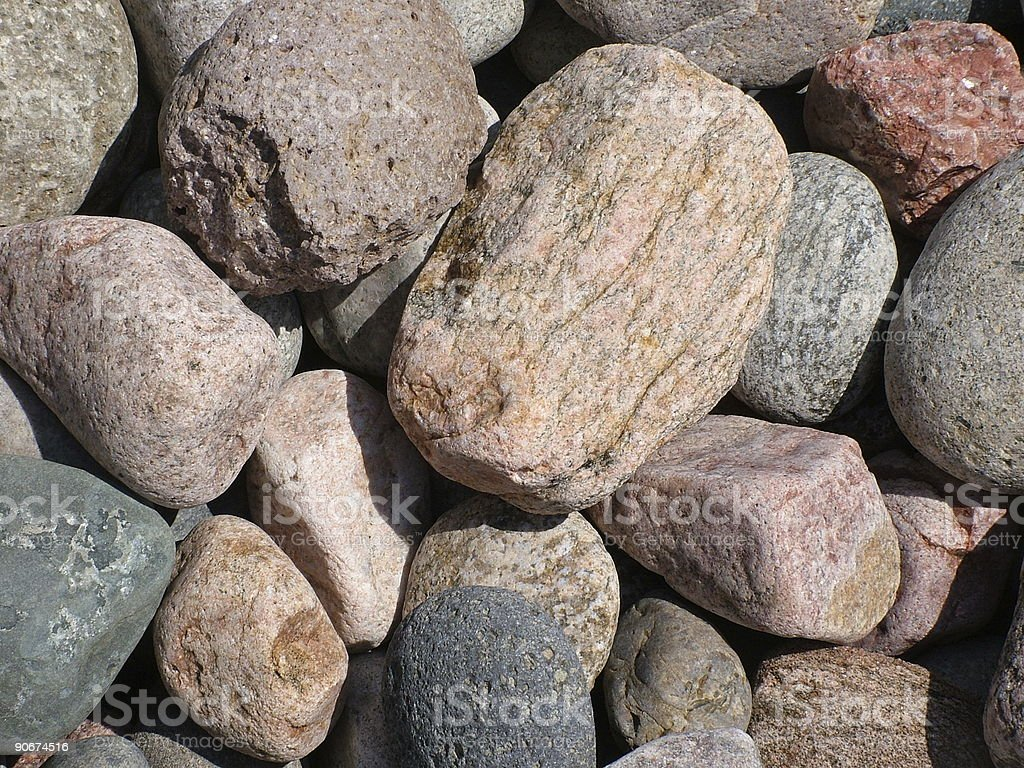 Colorful River Rocks royalty-free stock photo