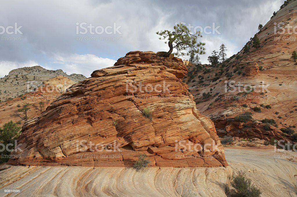 Colorful Rock Formation royalty-free stock photo
