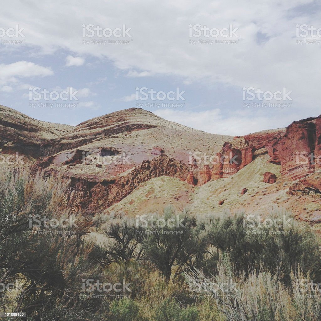 Colorful Rock Hill stock photo