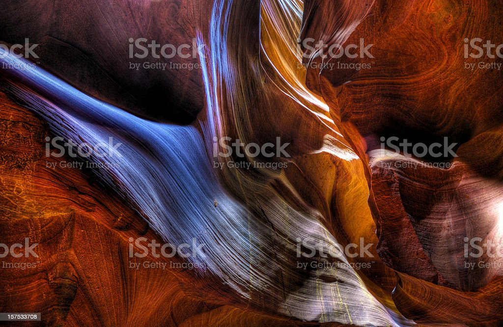 Colorful rocks inside a slot canyon royalty-free stock photo