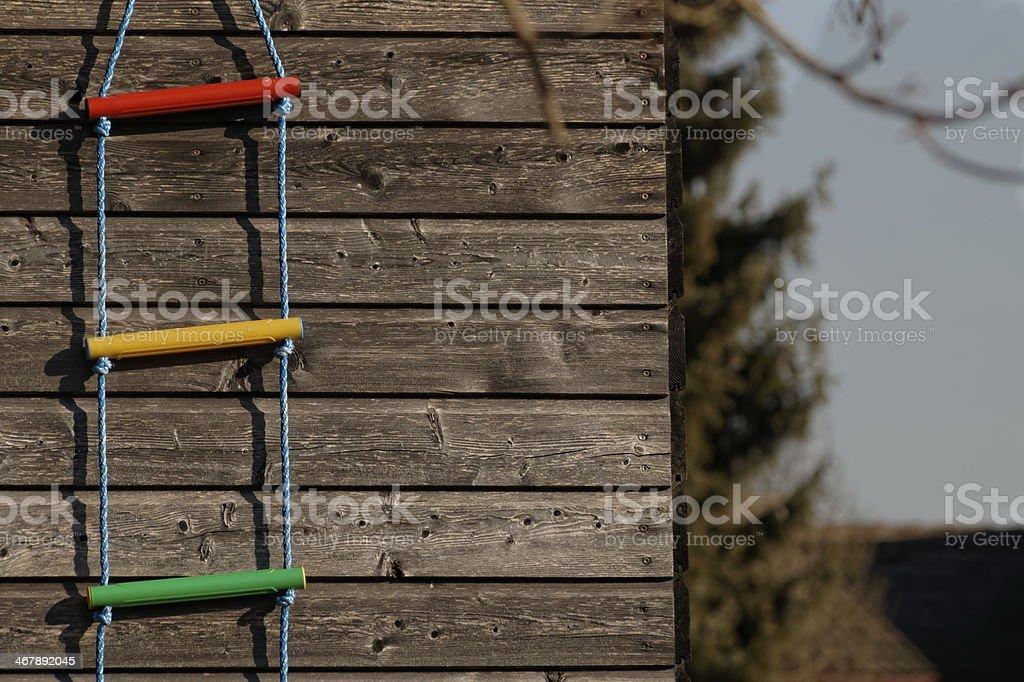 bunte Strickleiter stock photo