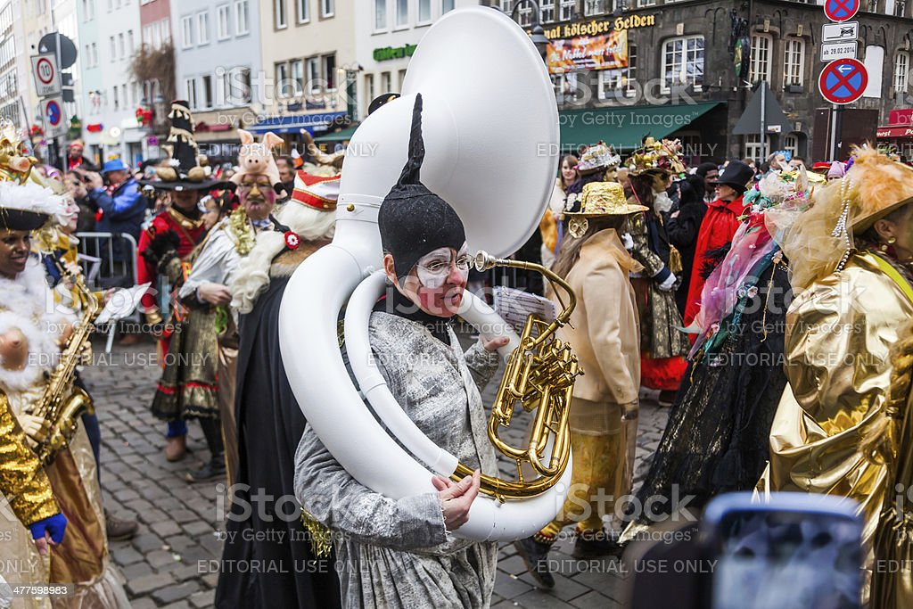 colorful Rose Monday parade in Cologne royalty-free stock photo