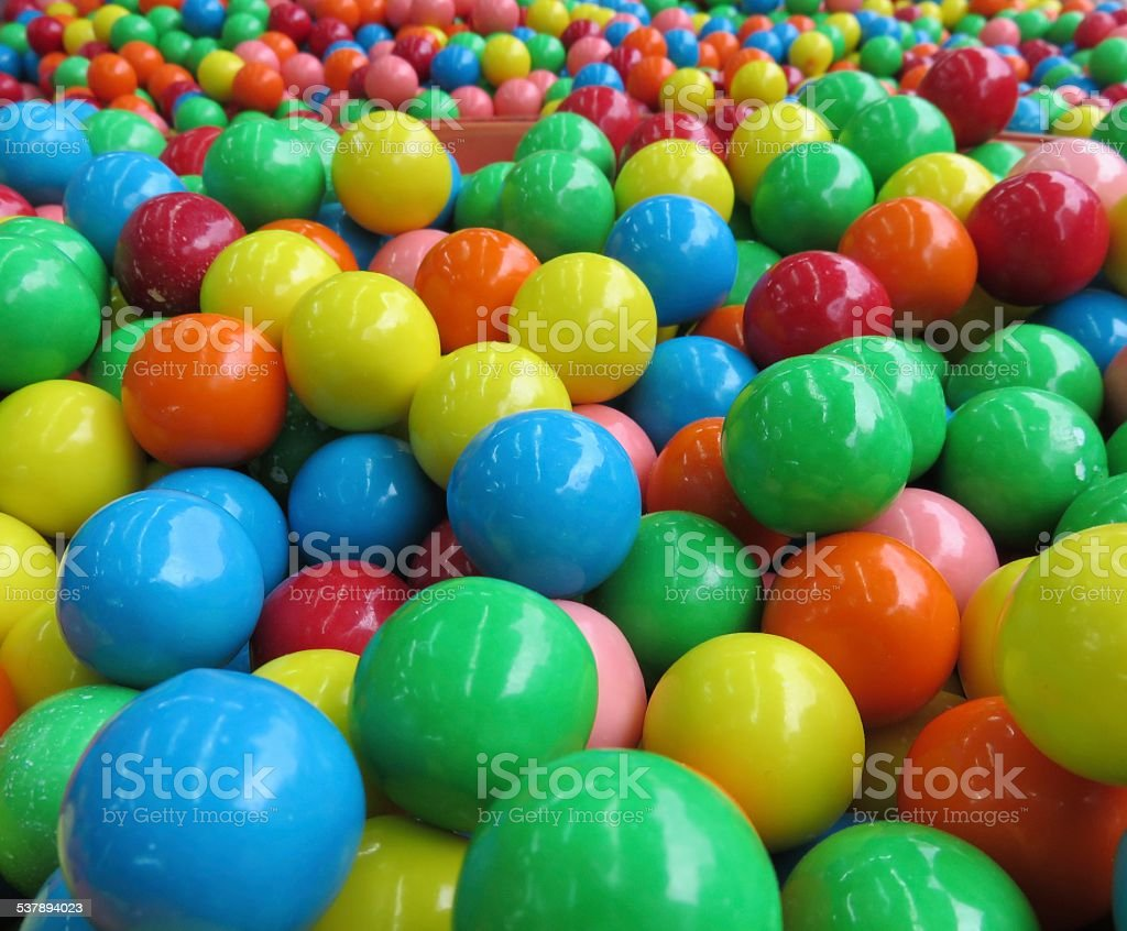 Colorful round Gum stock photo