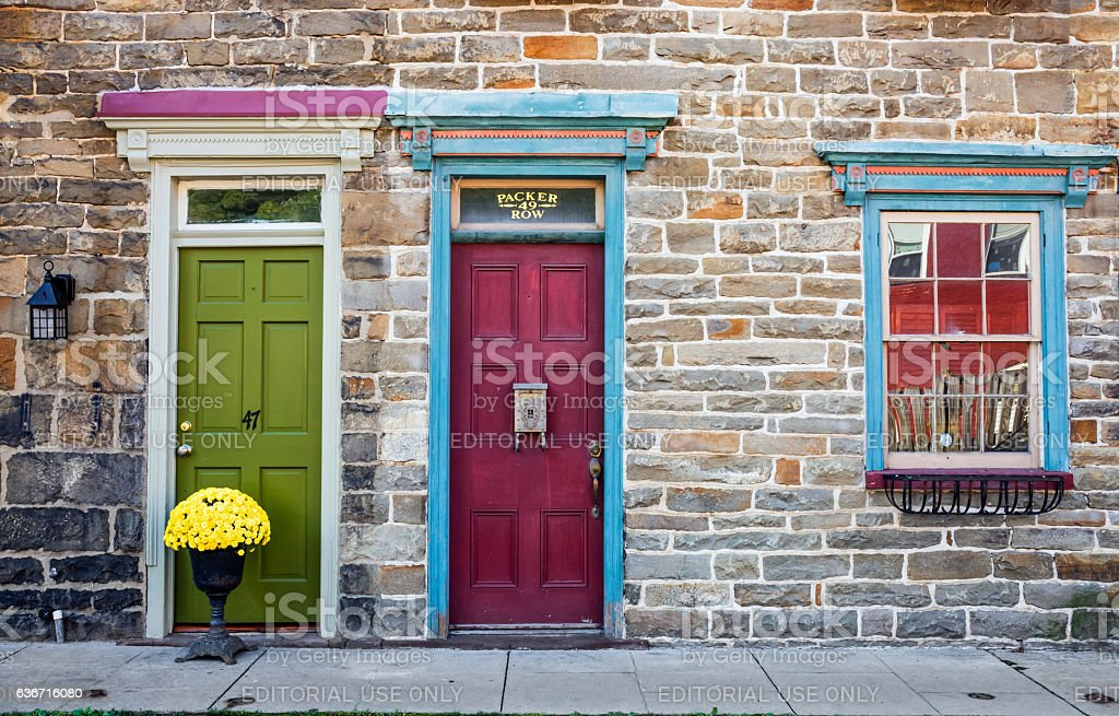 Colorful Row Homes stock photo