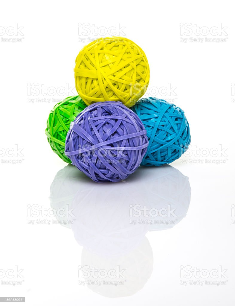 colorful rubber balls stock photo
