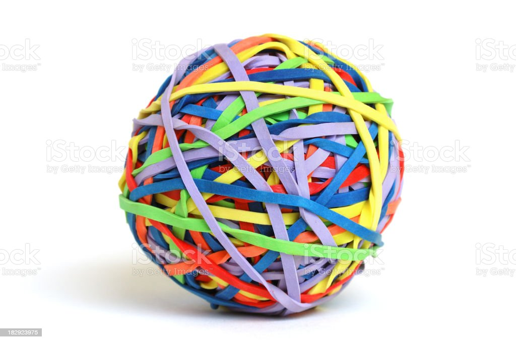 Colorful Rubber Band ball stock photo