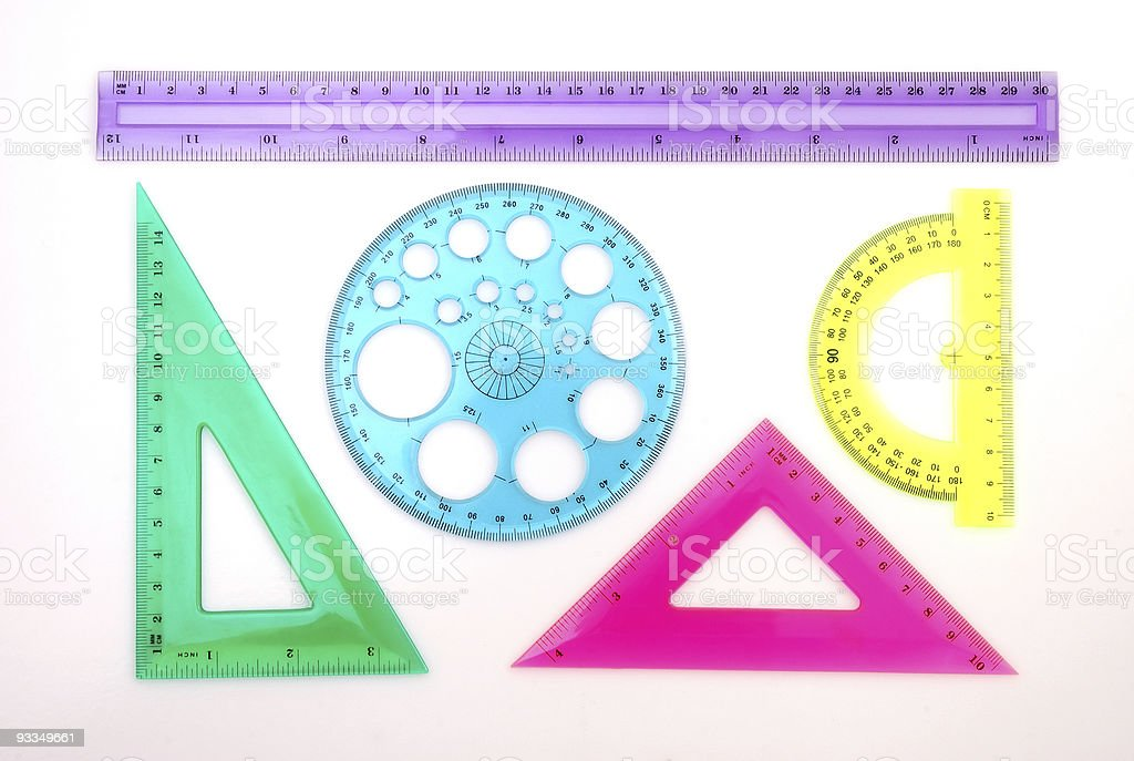 Colorful Ruler Set royalty-free stock photo