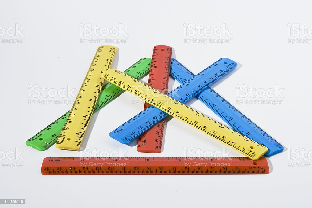 colorful rulers royalty-free stock photo