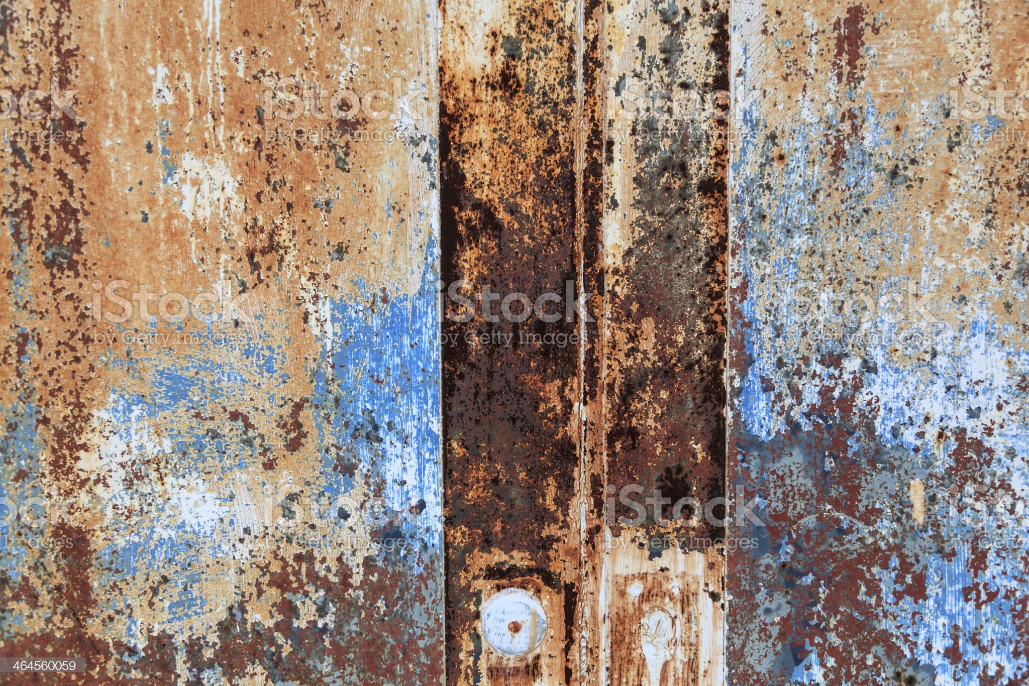 Colorful rusted metal door royalty-free stock photo