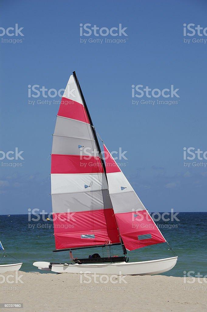 Colorful sailboat royalty-free stock photo