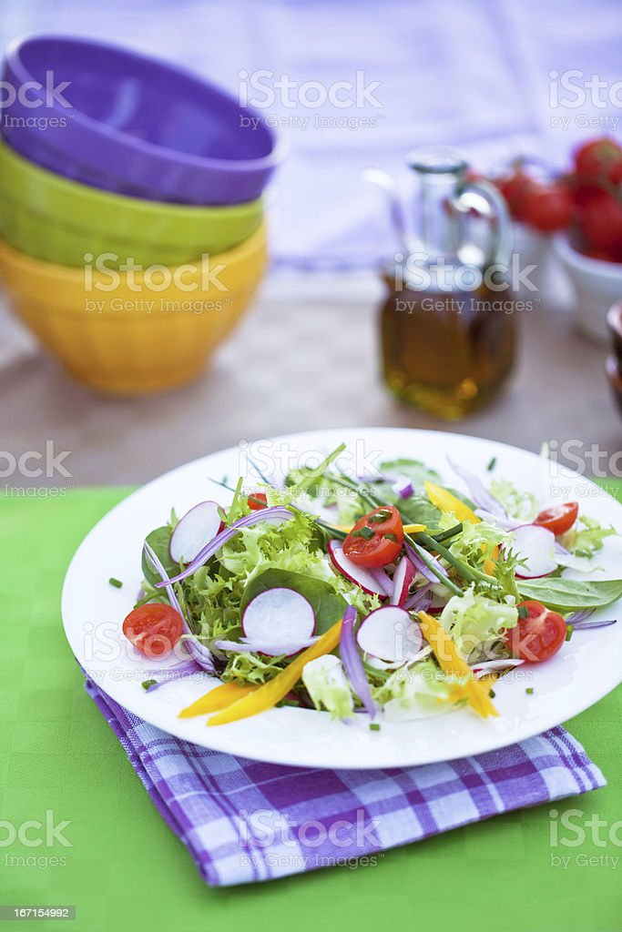 colorful salad royalty-free stock photo
