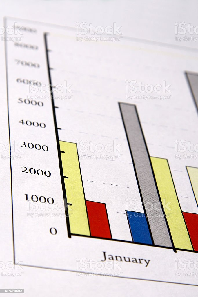 Colorful sales charts royalty-free stock photo