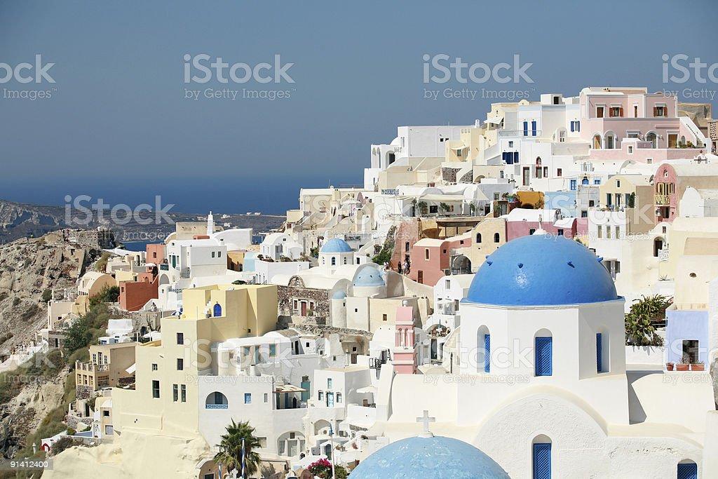 Colorful Santorini royalty-free stock photo