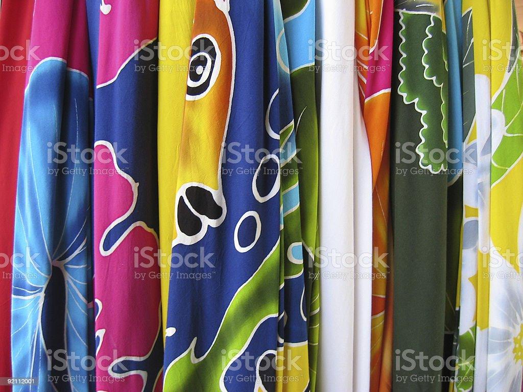 Colorful Sarongs royalty-free stock photo