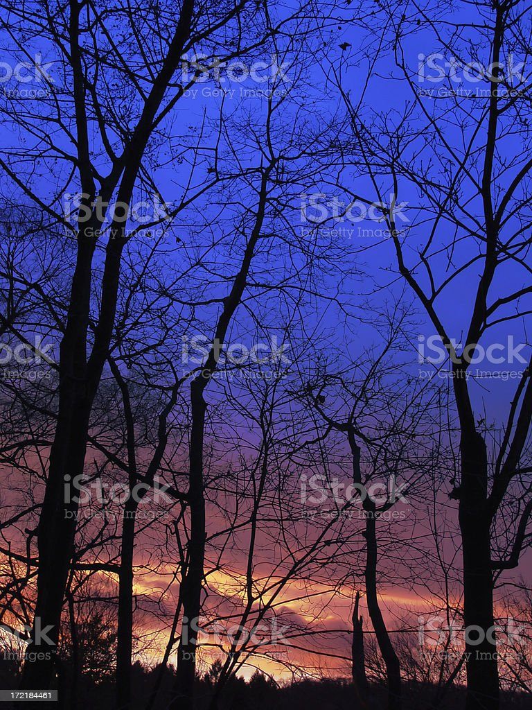colorful saturated sunset stock photo
