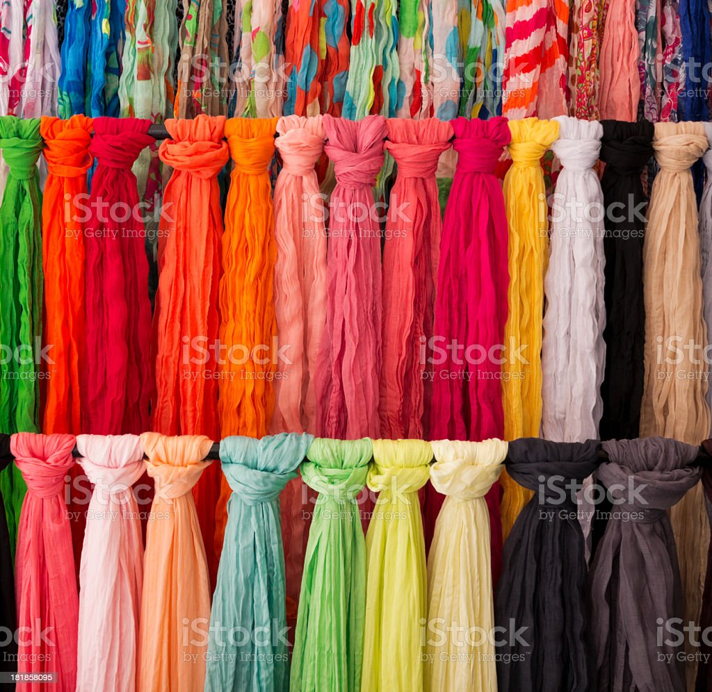 Colorful Scarfs royalty-free stock photo