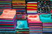 Colorful Scarves, Medina, Fez, Morocco North Africa
