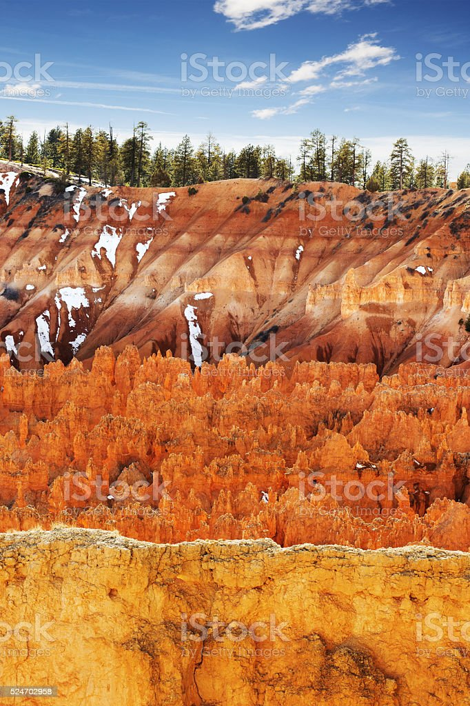 colorful scenes in the Bryce Canyon stock photo