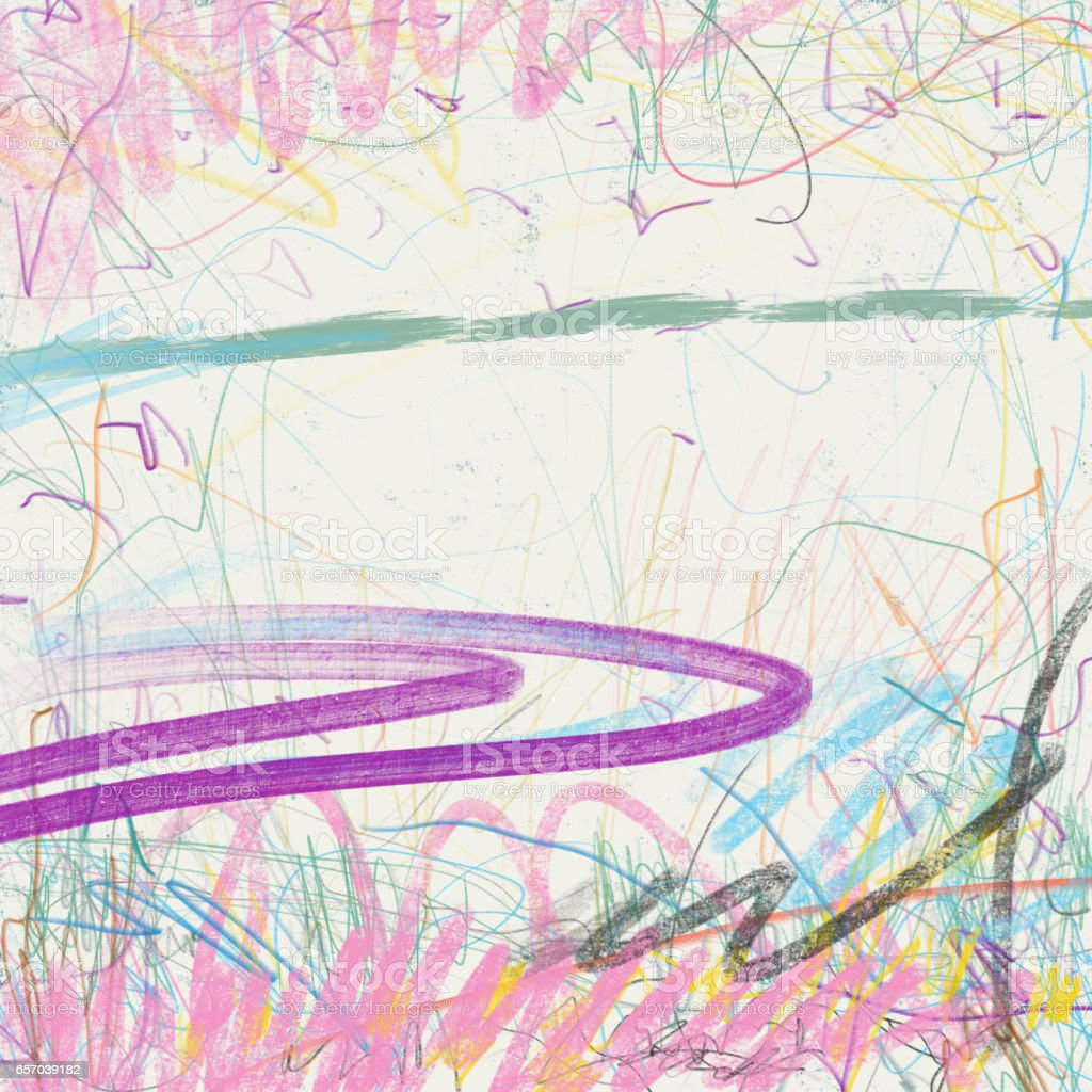 colorful scribbles. stock photo