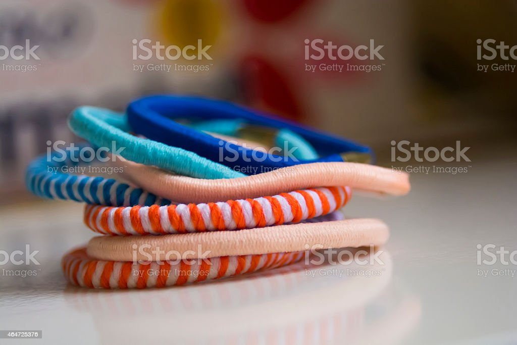 Colorful scrunchy stock photo