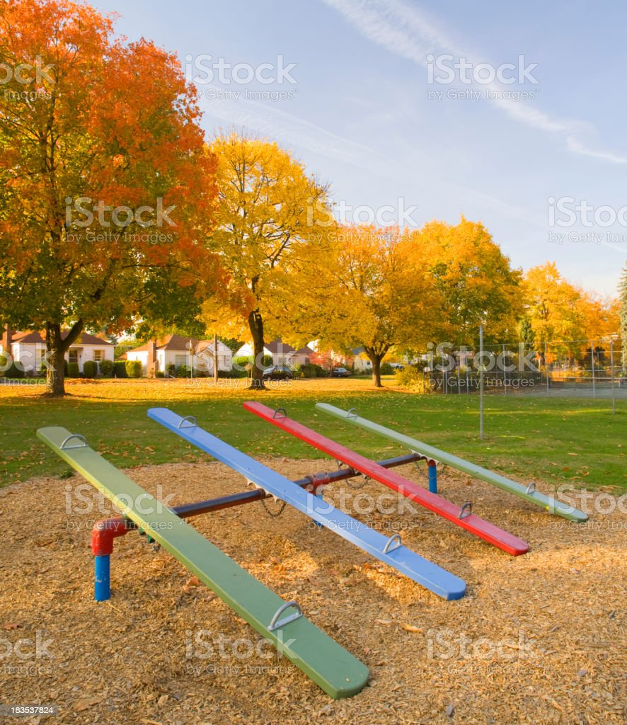Colorful Seesaws. stock photo