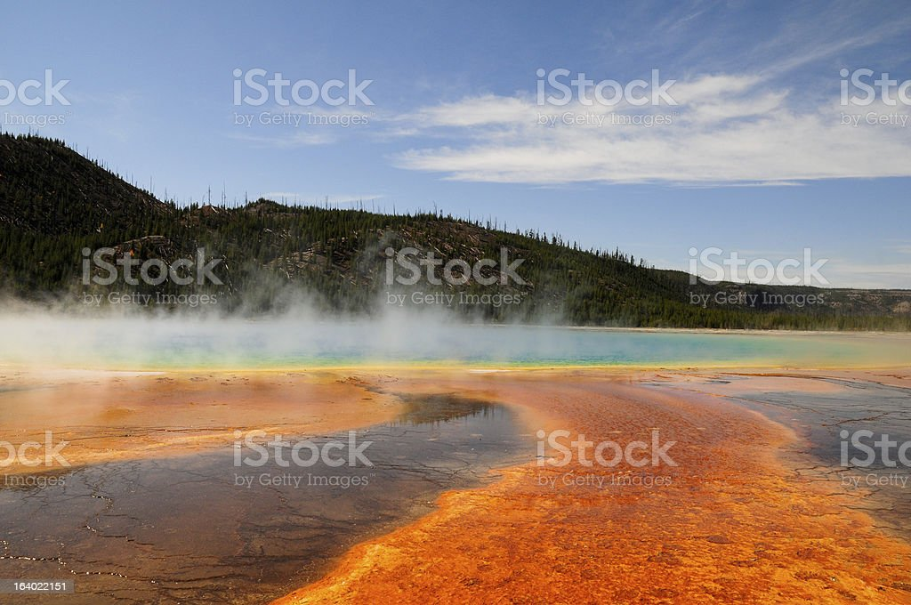 Colorful Seismic Pool royalty-free stock photo