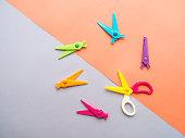 Colorful set of zigzag changable art scissors