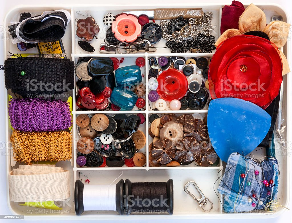 Colorful Sewing kit royalty-free stock photo