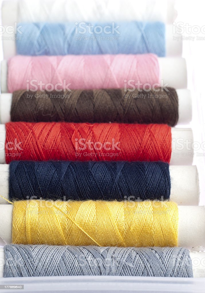 Colorful Sewing Thread Rolls royalty-free stock photo