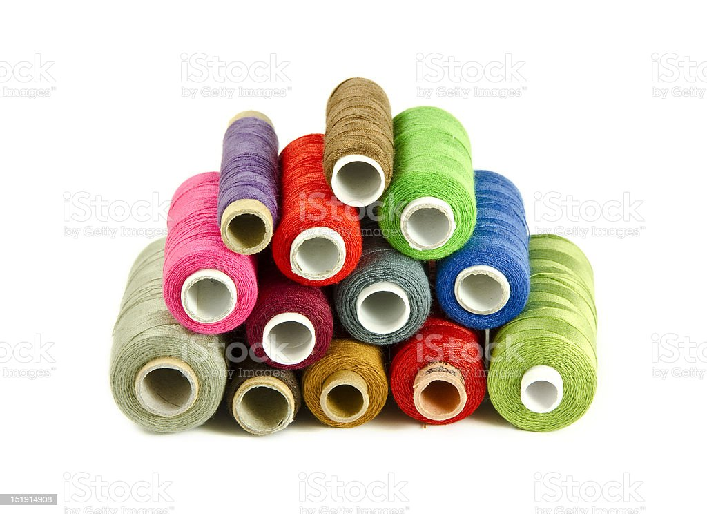 Colorful sewing threads royalty-free stock photo