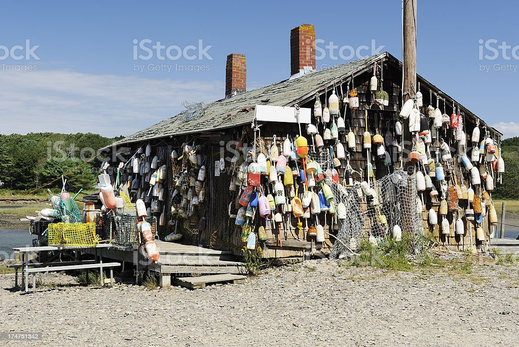 Colorful shack royalty-free stock photo