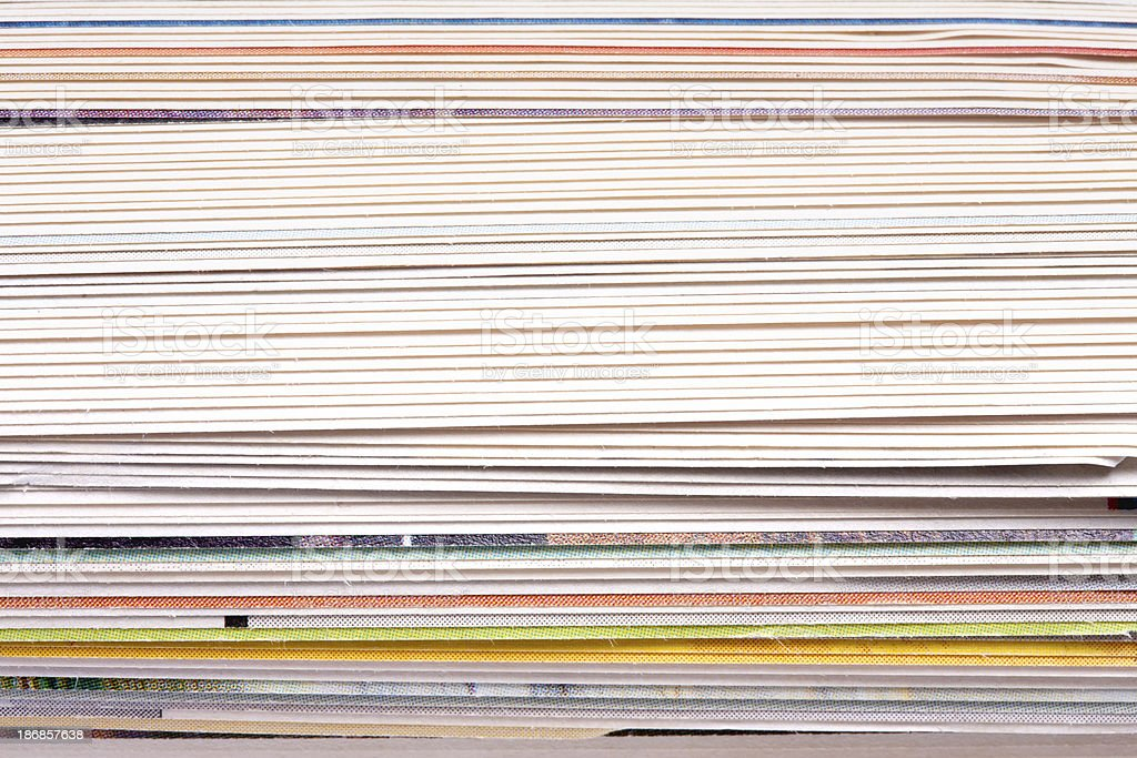Colorful sheets of paper in a stack royalty-free stock photo