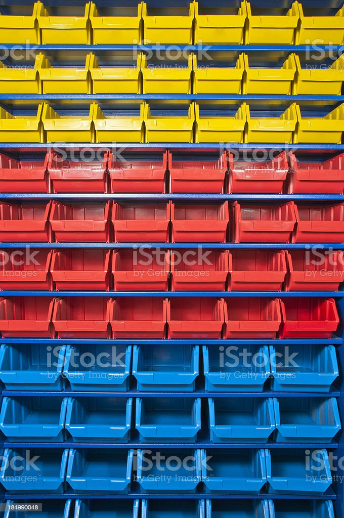 Colorful Shelves Background royalty-free stock photo