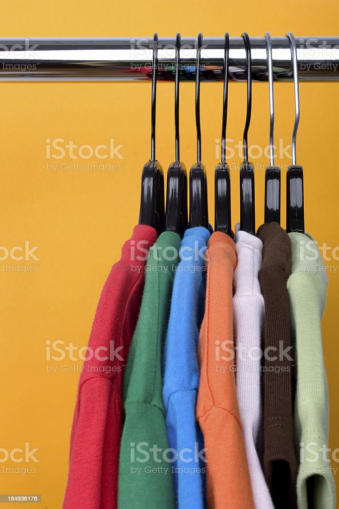 Colorful Shirts royalty-free stock photo
