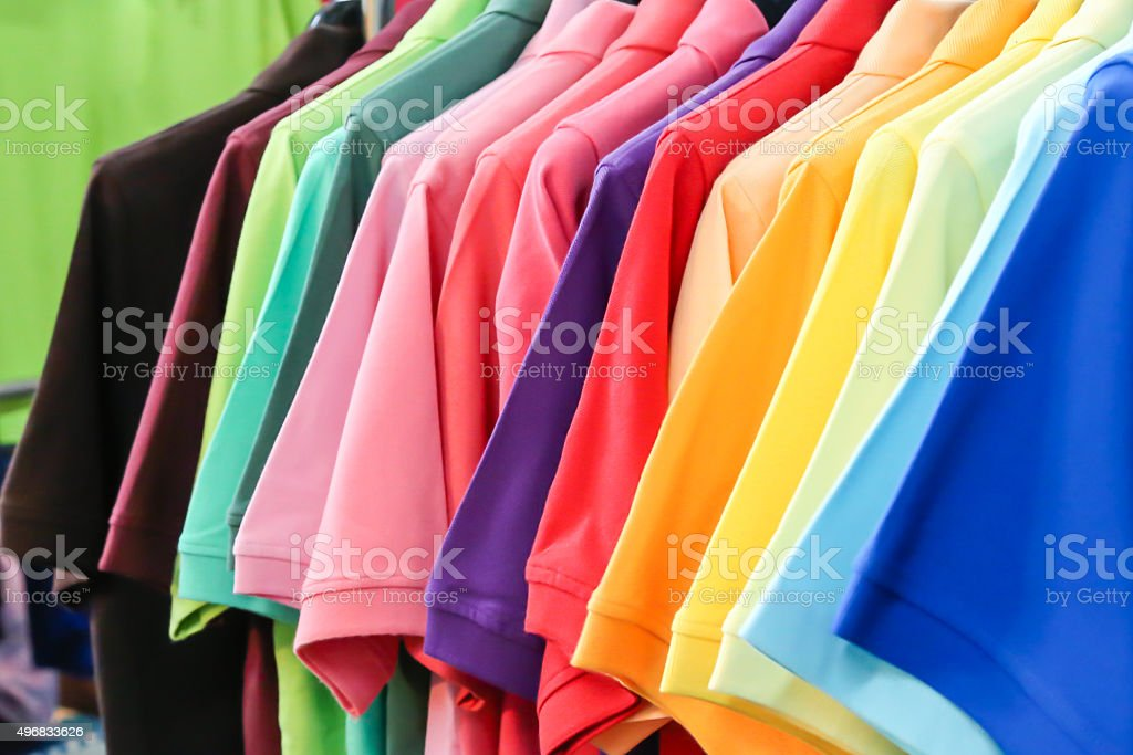 Colorful Shirts stock photo
