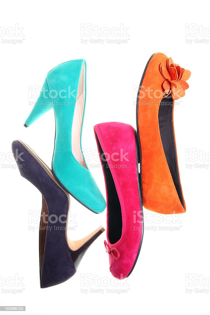Colorful shoes royalty-free stock photo