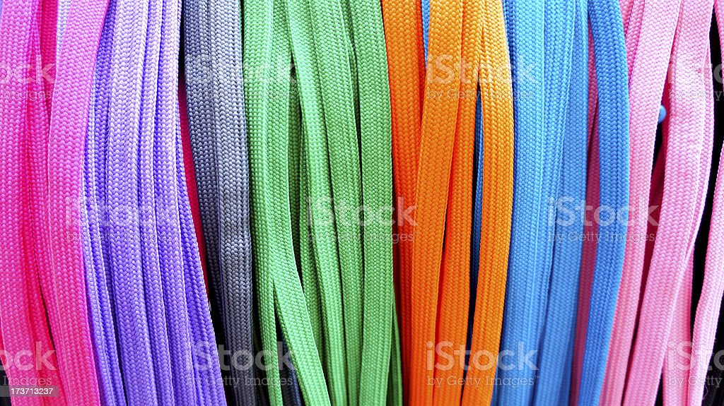 colorful shoestring royalty-free stock photo