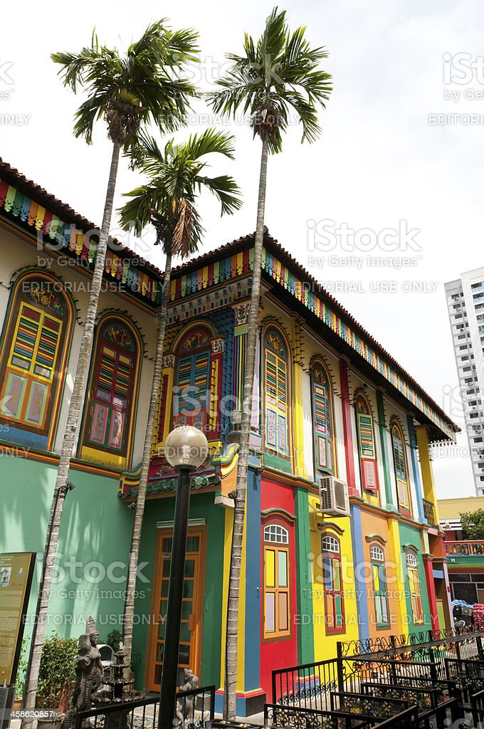 Colorful shophouse stock photo