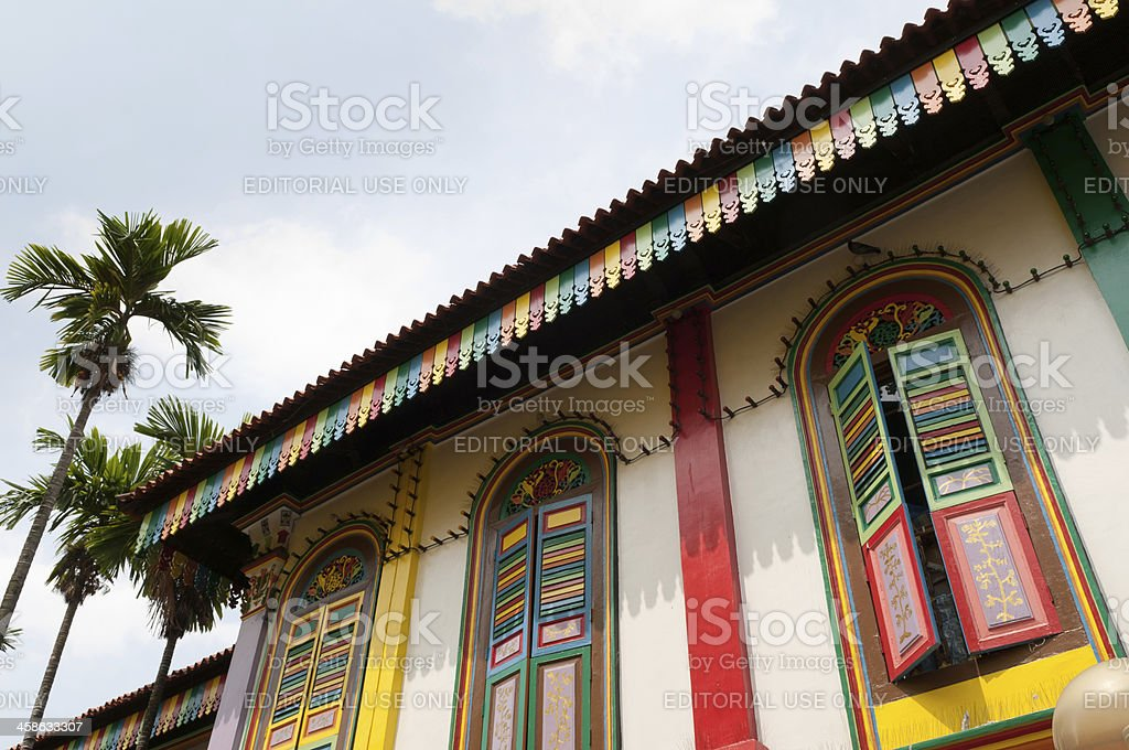 Colorful shophouse stock photo
