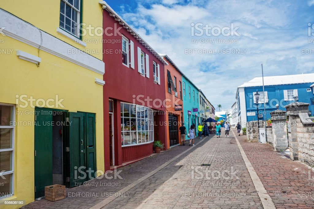 Colorful Shops St Georges stock photo