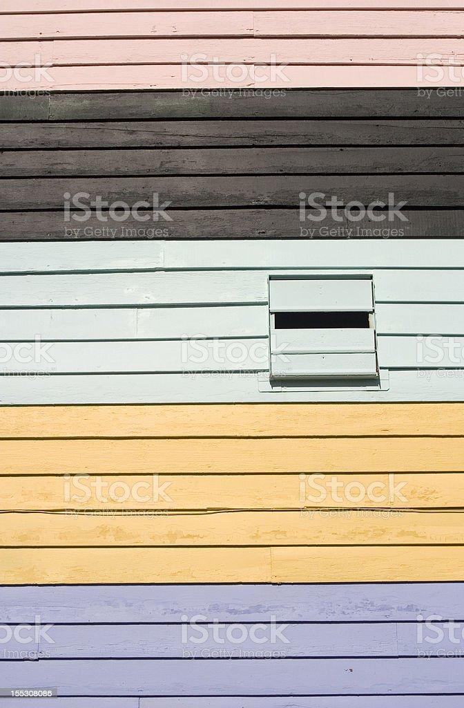 Colorful Siding royalty-free stock photo