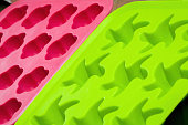 Colorful silicone food molds