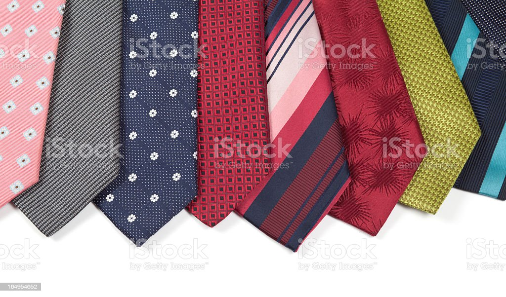 Colorful Silk Ties royalty-free stock photo